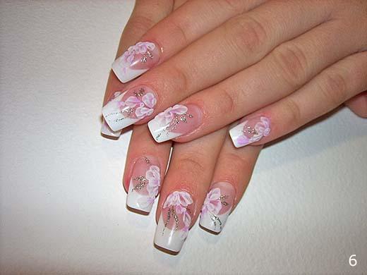 фото свадебное наращивание ногтей